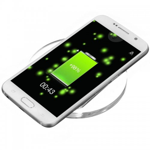 Qi Standard Wireless Phone Charger Charging Pads for iPhone Samsung - White