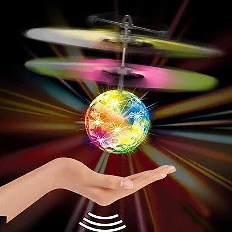 Infrared Induction Helicopter Ball with Rainbow LED Lights