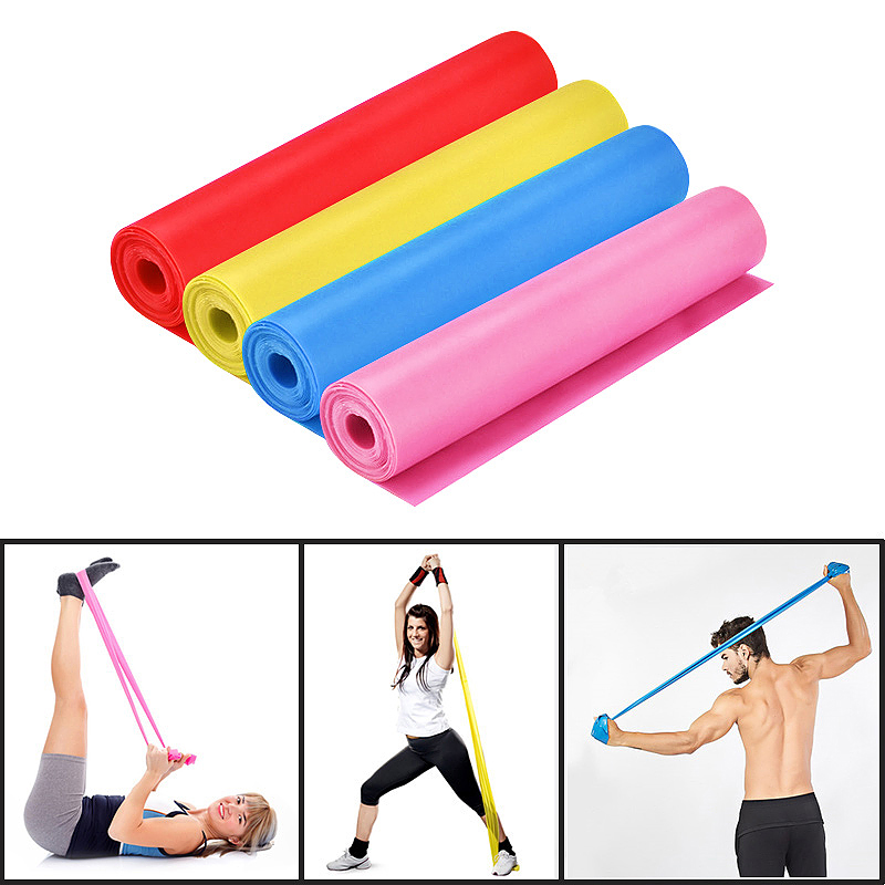 1.5M Exercise Elastic Resistance Bands Exercise Pilates Yoga Physiotherapy Sports Band - Blue