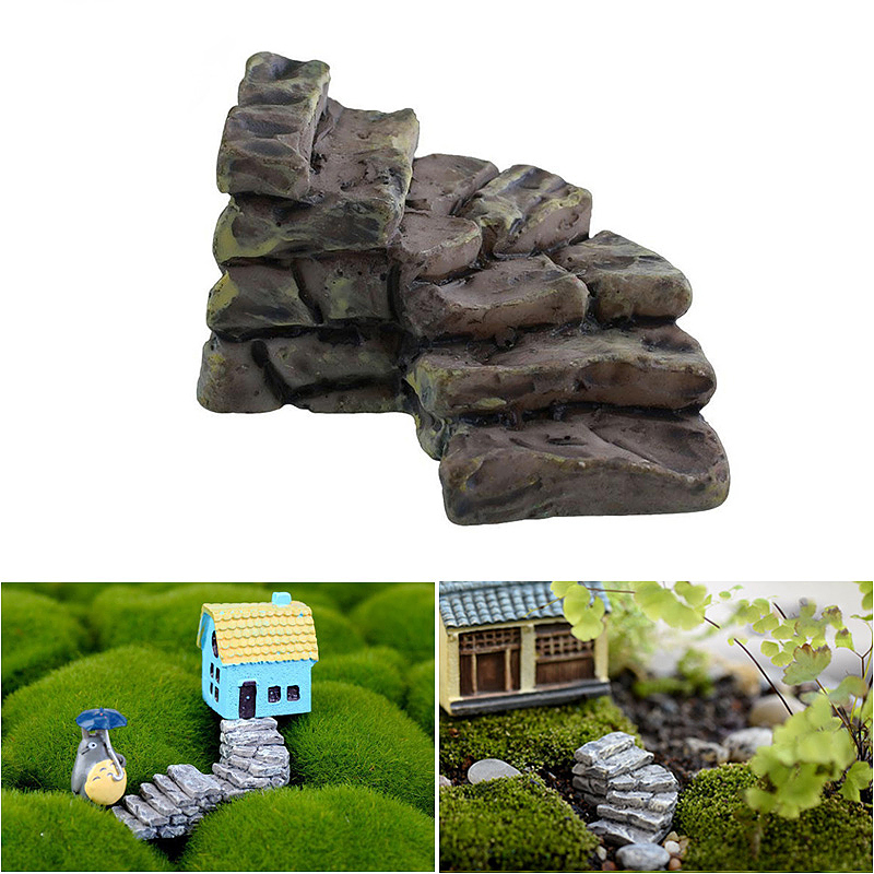 Mini Bend Steps House Fairy Garden Miniature Craft Home Decoration