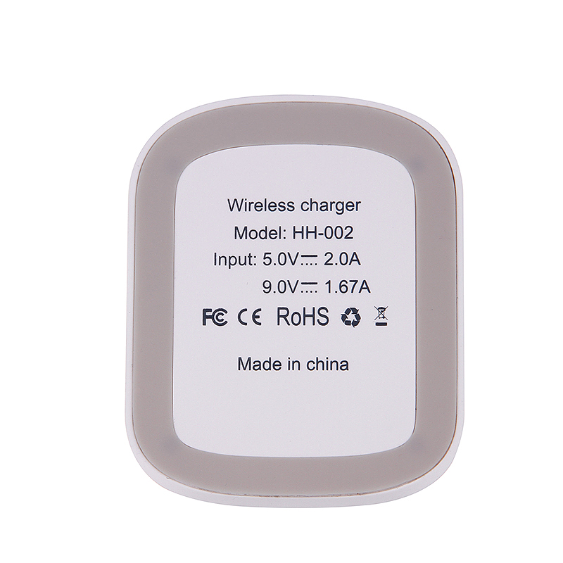 Wireless Qi Fast Charging Wireless Stand Phone Charger for Samsung S8 S7 - White