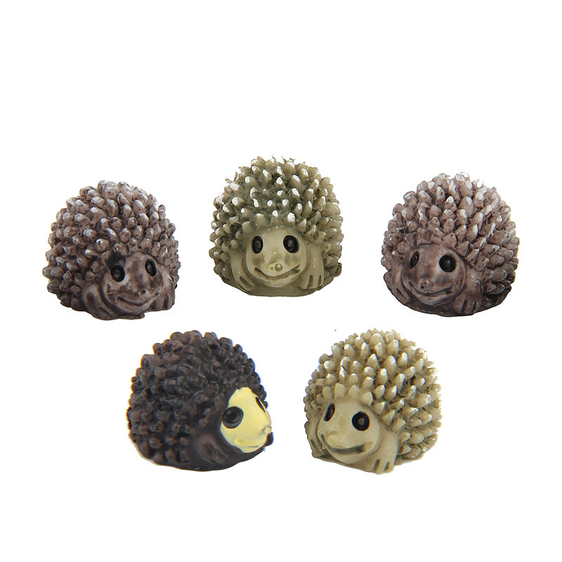 Miniature Hedgehogs Fairy Ornament Home Garden Craft Decor