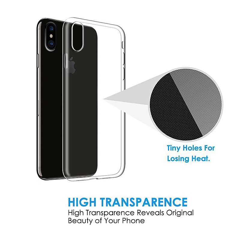 Ultra Slim TPU Soft Transparent Case Protective Cover for Apple iPhone X/XS