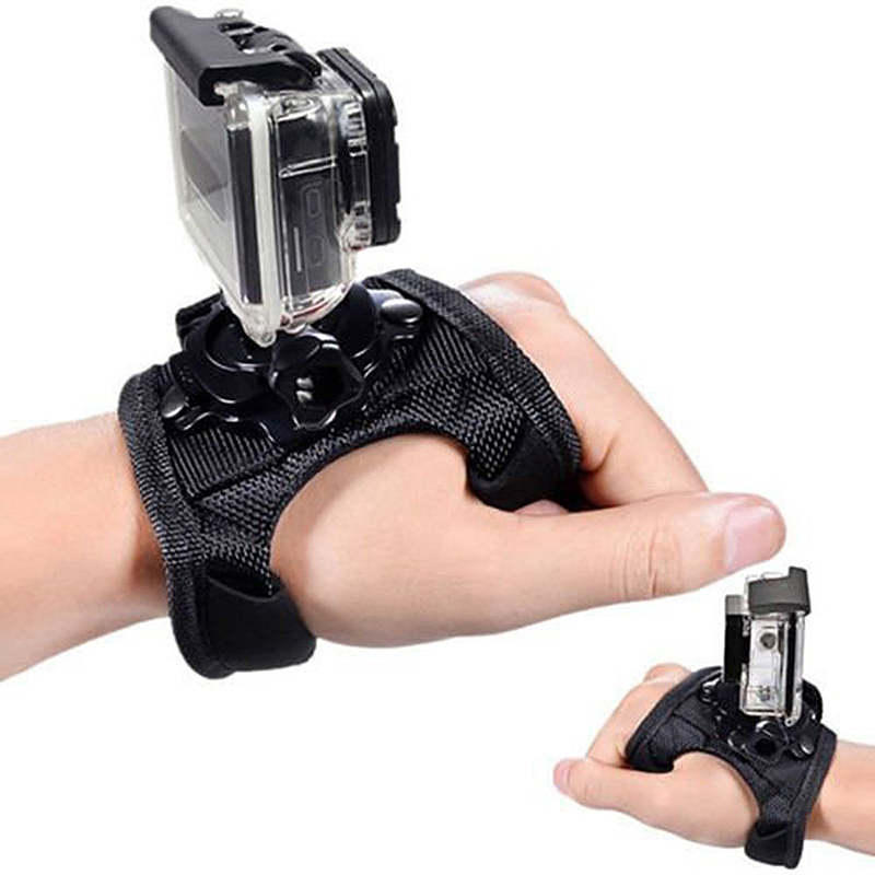 360 Degree Rotation Palm Strap Stent Mount Strip Belt with Screw for GoPro - Model GP127L