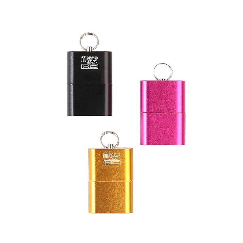 Mini USB 2.0 Micro SD TF T-Flash Memory Card Reader Adapter - Black