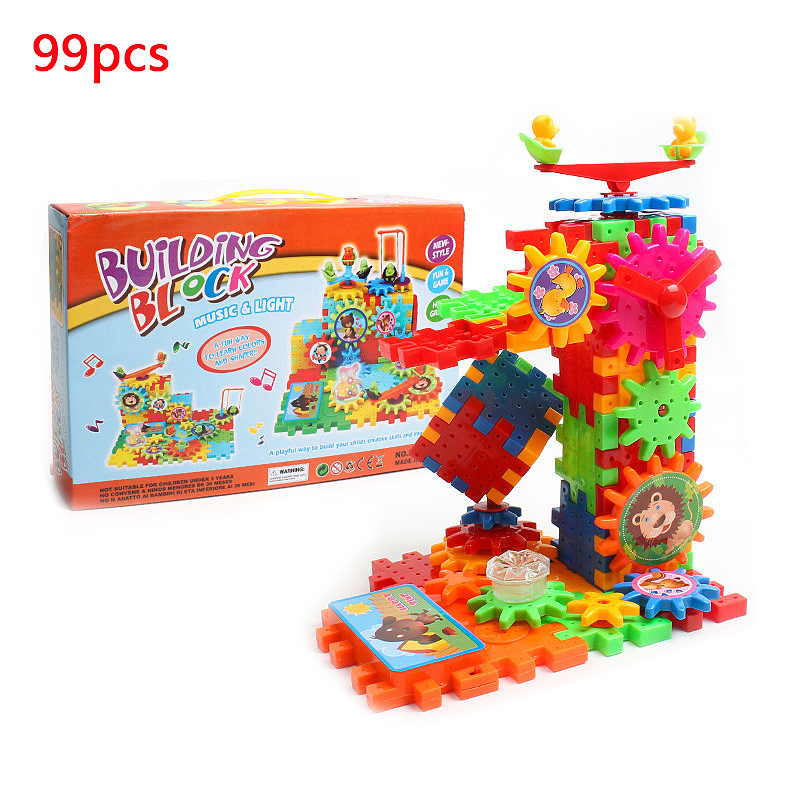 99pcs Assorted Colour Building Blocks Bricks Construction Toy Gifts for Kids