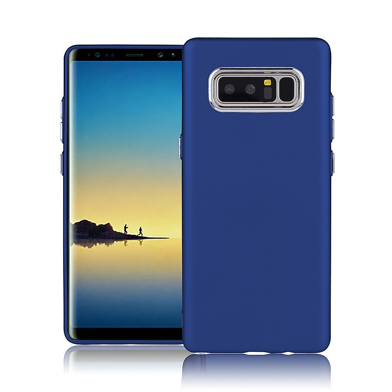 Pure Colour Soft TPU Matte Back Case for Samsung Galaxy Note 8 - Blue