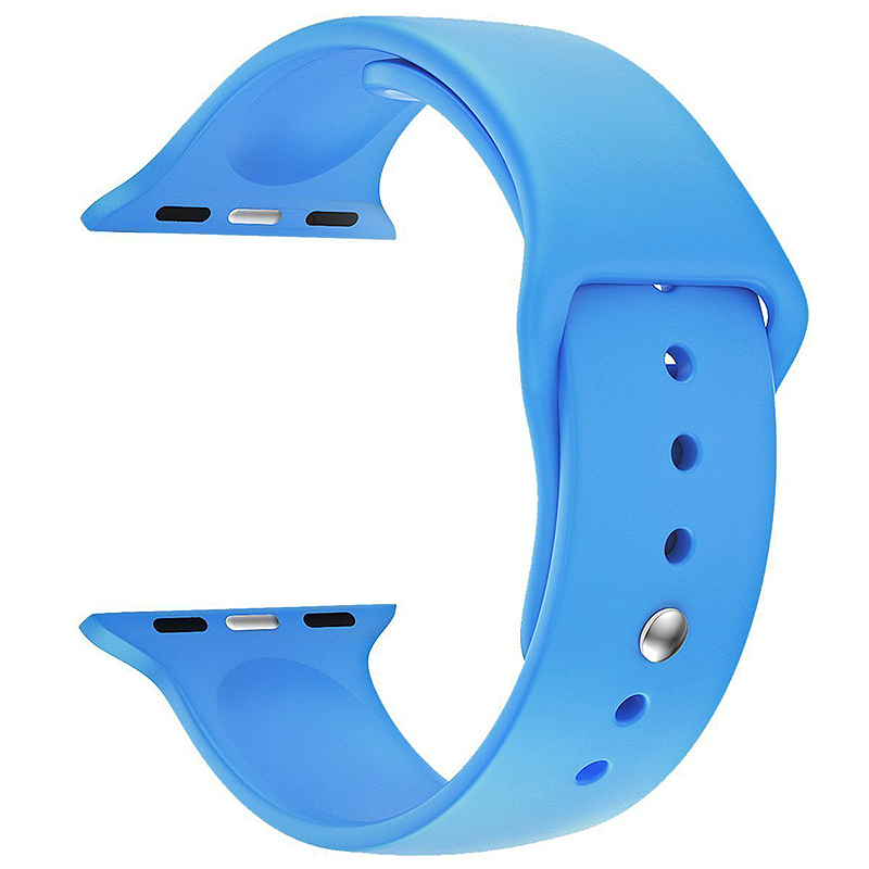 Replacement Silicone Wrist Sport Band Strap for Apple Watch 38mm - Blue