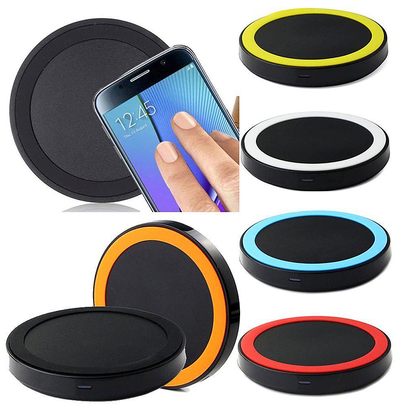 Wireless Charger Pad Qi Standard Transmitter for All Qi-enabled Devices - Black + Yellow