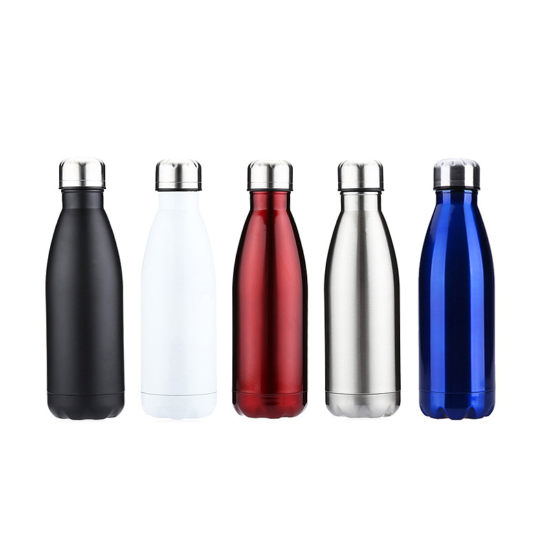 350ML Vacuum Water Flask Thermos Stainless Steel Insulated Thermos Water Bottle - Silver