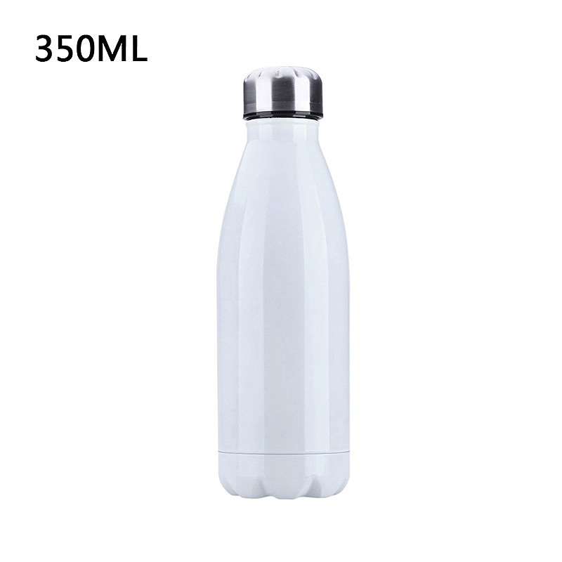 350ML Vacuum Water Flask Thermos Stainless Steel Insulated Thermos Water Bottle - White