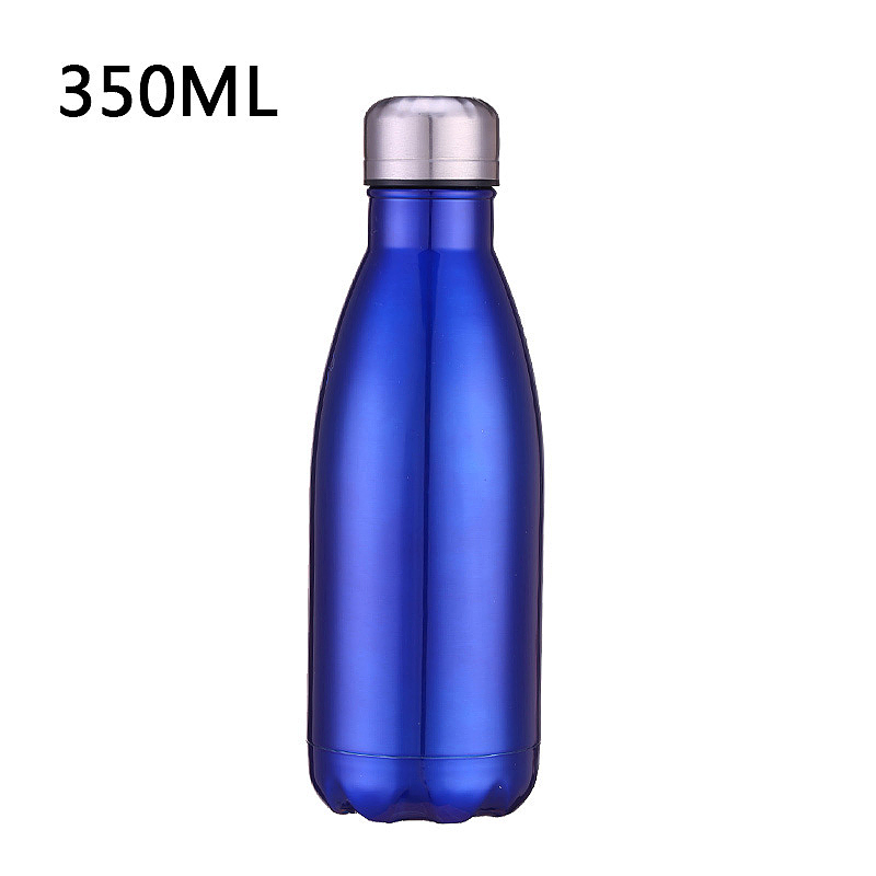 350ML Vacuum Water Flask Thermos Stainless Steel Insulated Thermos Water Bottle - Blue