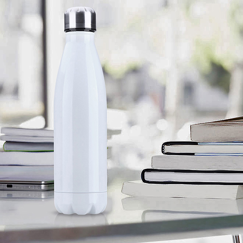 750ML Stainless Steel Vacuum Insulated Water Bottle Leak-proof Double Walled Drinks Bottle - White