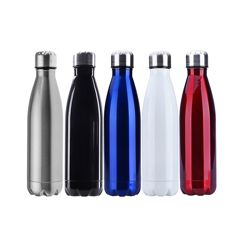 750ML Stainless Steel Vacuum Insulated Water Bottle Leak-proof Double Walled Drinks Bottle - Black