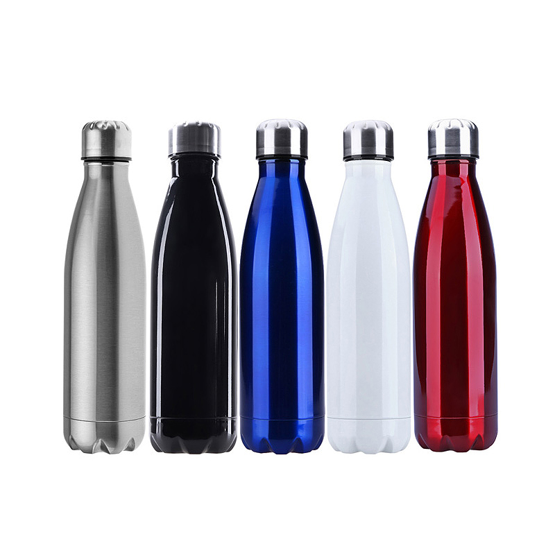 1000ML Double Wall Vacuum Insulated Stainless Steel Water Bottle Cup for Camping Hiking - Silver