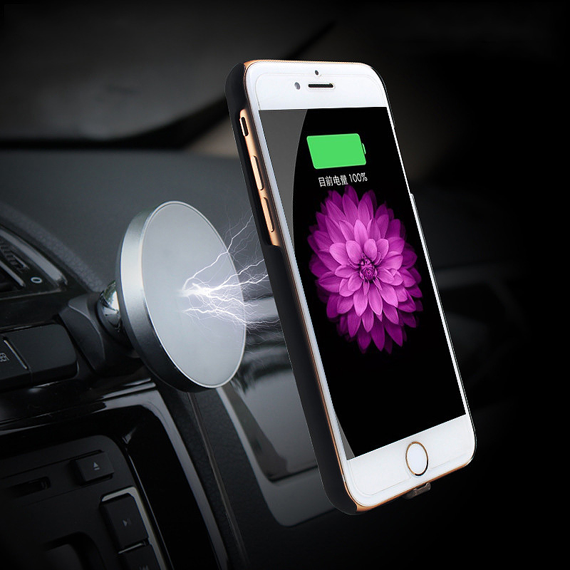 Qi Wireless Car Charger 360 Degree Rotate Magnetic Car Mount Holder for Smartphones