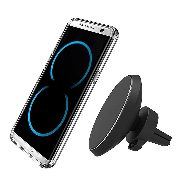 Qi Wireless In Car Charger Magnetic Air Vent Holder Stand for iPhone Samsung Huawei