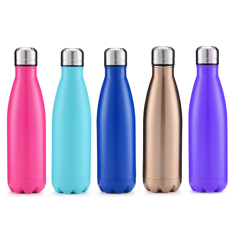 500ml Double Wall Stainless Steel Water Thermos Vacuum Insulated Water Bottle - Matte Light Blue