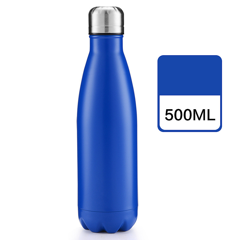 500ml Double Wall Stainless Steel Water Thermos Vacuum Insulated Water Bottle - Matte Deep Blue