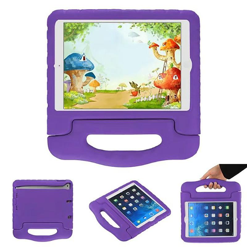 Shockproof Handled EVA Foam Stand Case for Apple Tablets iPad Mini 4 - Purple