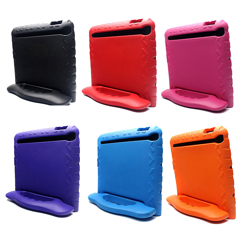Tough Shockproof iPad Protective Case EVA Foam Handled Case Cover for iPad Air Air 2 - Rose Red