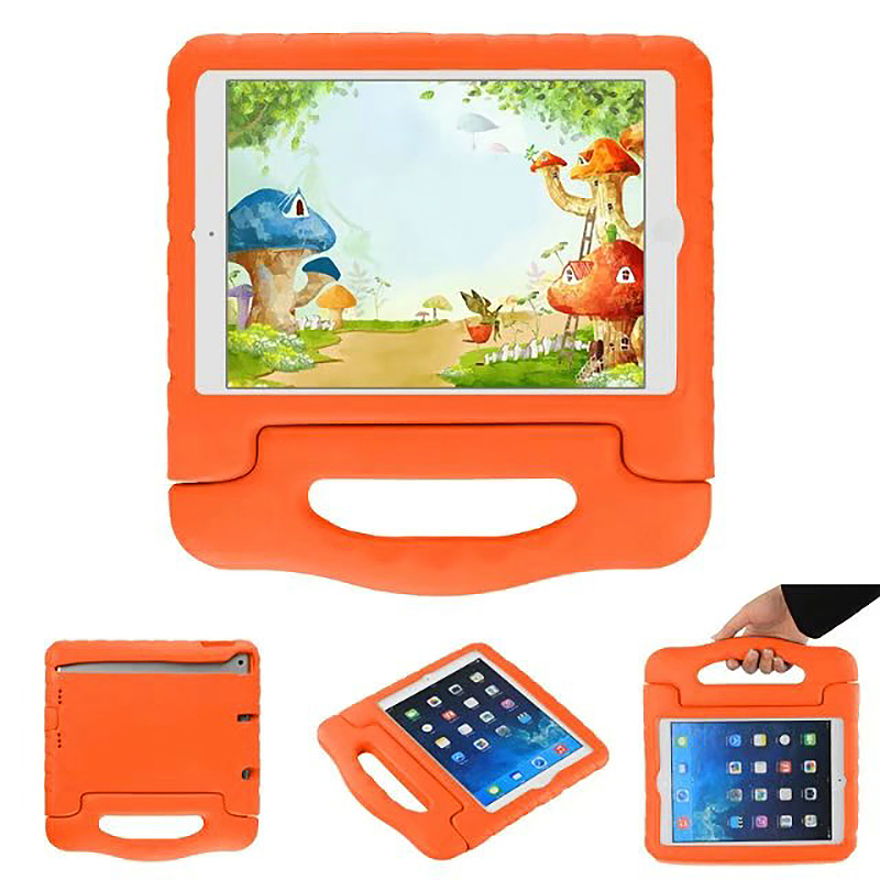 Tough Kids Shockproof iPad Protective Case EVA Foam Handled Case Cover for iPad Air Air 2 - Orange