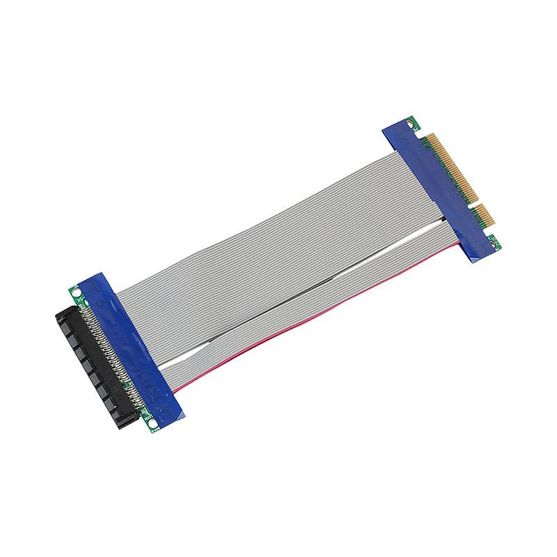 PCI-E Express 8X Riser Card Extender Extension Flexible Cord Connector Adapter