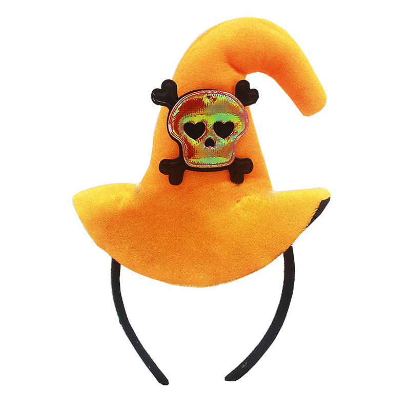 Halloween Pumpkin Hat Adult Kids Hoop Halloween Cap Props Supplies - Skeleton