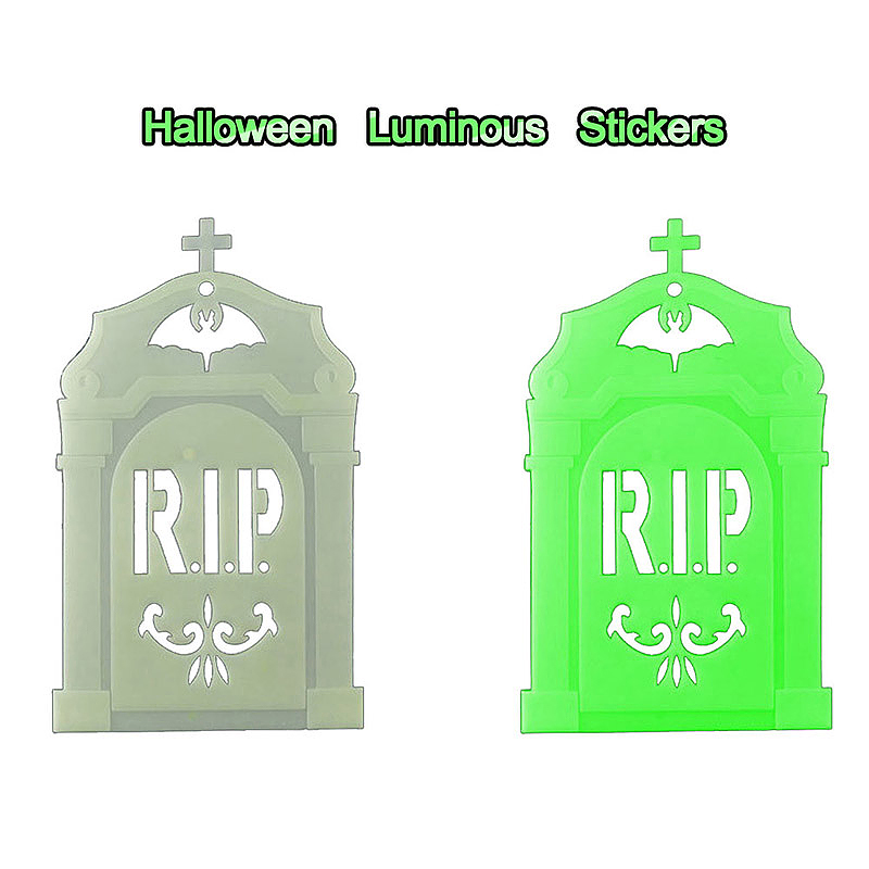 Halloween Luminous Night Glow Wall Sticker for Halloween Decoration - Tombstone