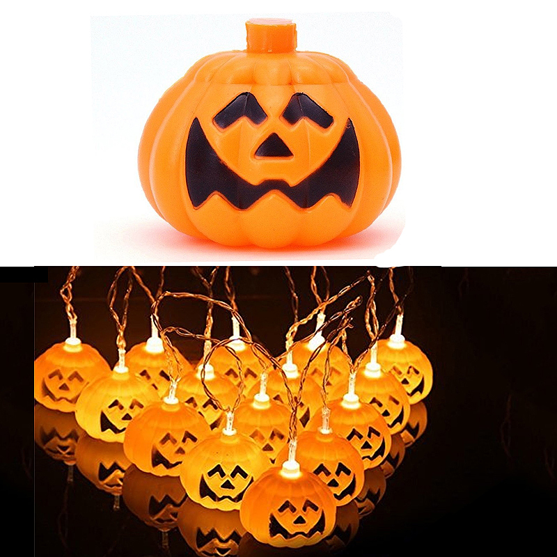 Halloween Pumpkin 16 LED String Lights for Halloween Party Decoration