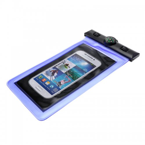 6 inch Universal Waterproof Case Pouch Bag for Phones Camera - Blue