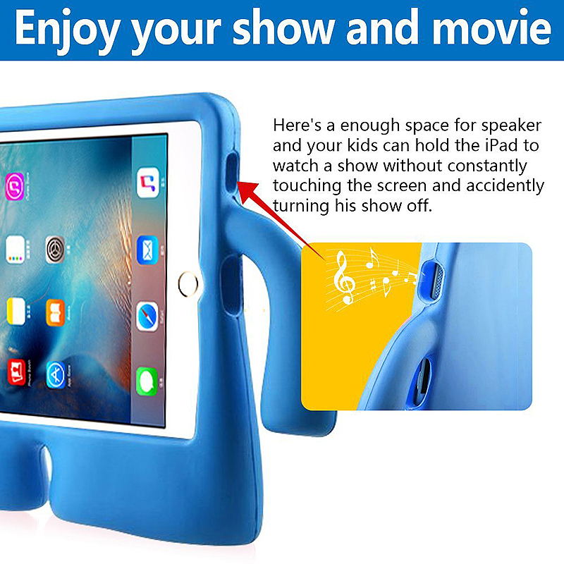 Universal Shockproof EVA Foam Stand Tablet Case for iPad Mini 1/2/3/4 - Blue