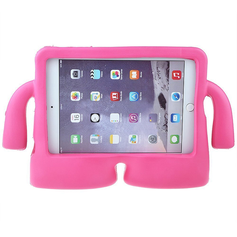 Kids Toddler Universal Shockproof EVA Foam Stand Tablet Case for iPad Mini 1/2/3/4 - Rose Red