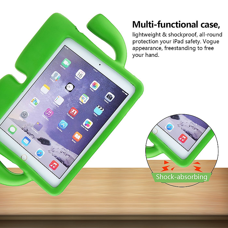 Kids Toddler Universal Shockproof EVA Foam Stand Tablet Case for iPad Mini 1/2/3/4 - Green