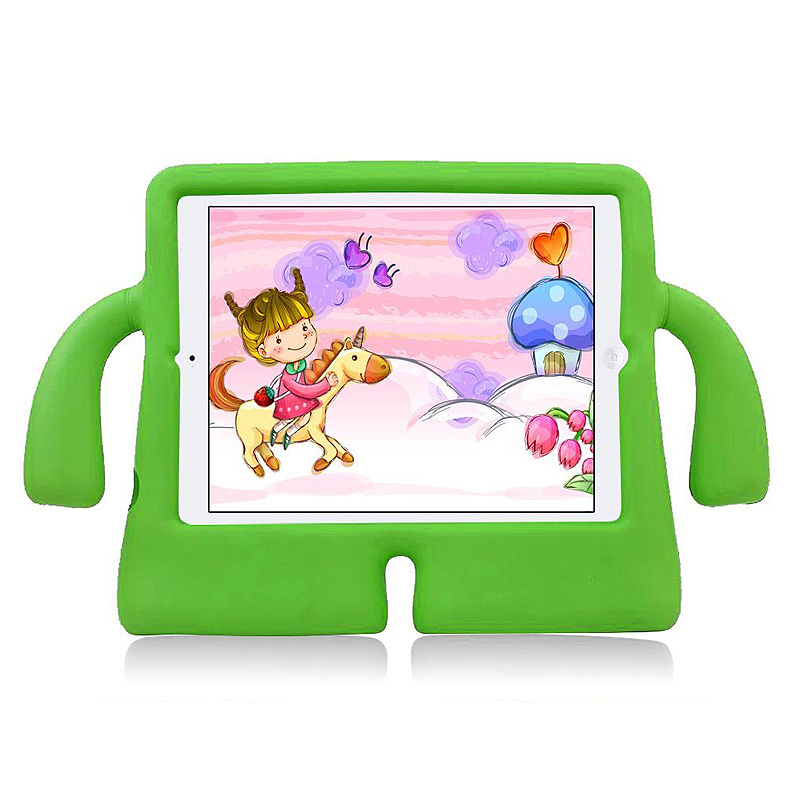 Children Kids Safe Rubber Shockproof EVA Foam Stand Case Cover for iPad Air/Air 2 - Green
