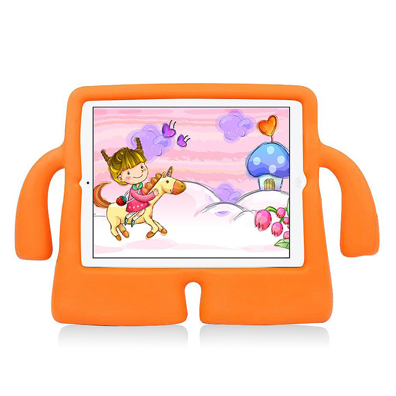 Children Kids Safe Rubber Shockproof EVA Foam Stand Case Cover for iPad Air/Air 2 - Orange