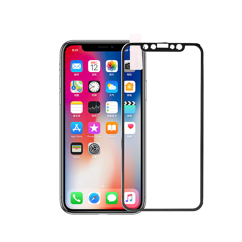 iPhone X/XS/11 Pro 3D Tempered Glass Metal Edge to Edge Screen Protector - Black