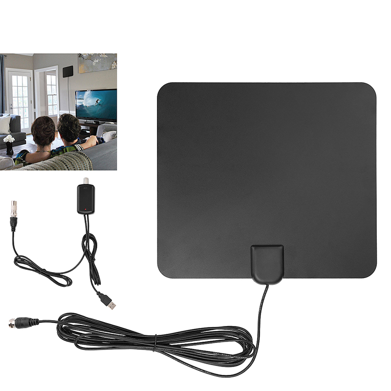 50Miles HD Amplified Indoor VHF UHF HDTV Antenna Signal High Gain Digital TV