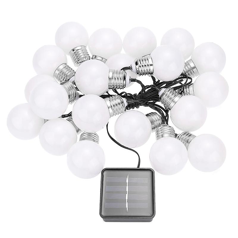 4.8m LED String Light Bulb 20 LED Lamp Beads Warm White Fairy Lamp