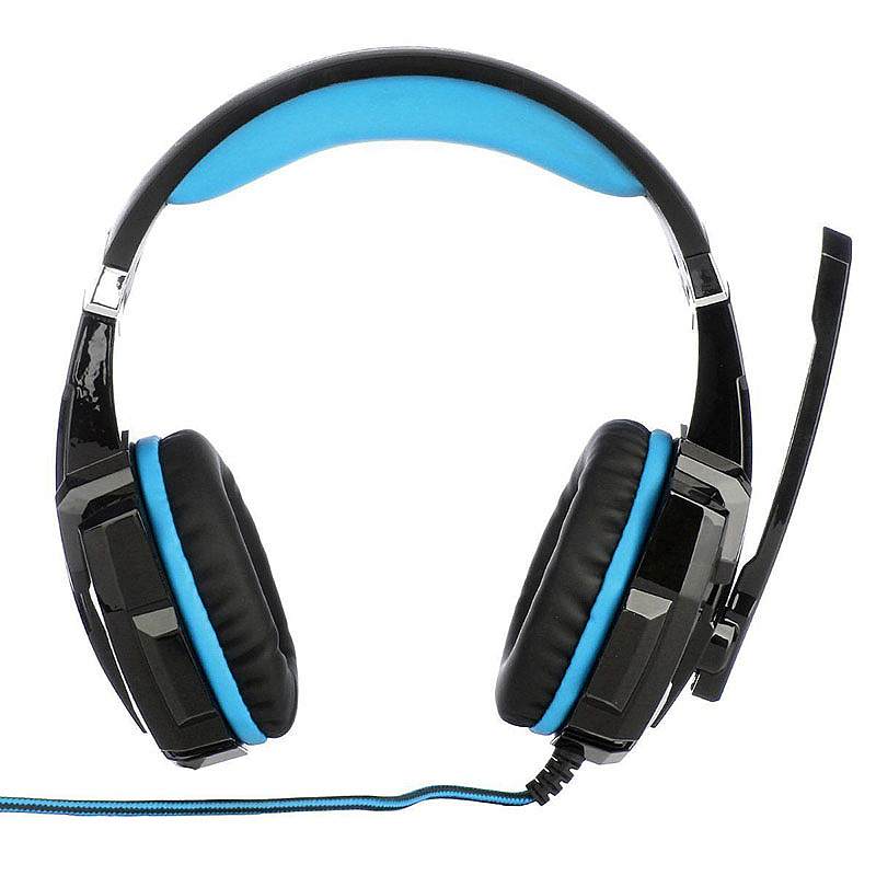 3.5mm LED Gaming Headset with MIC HiFi Headphones for Laptop Xbox - Black + Blue