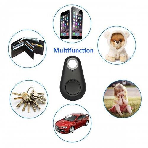 Smart Bluetooth Tracer GPS Locator Phone Keys Wallet Child Luggage Anti-Lost Finder - Black