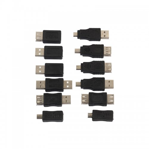 12 in 1 OTG USB 2.0 Male to Female Micro USB Mini Changer Adapter Convertor Connector Kit