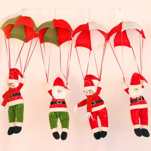 Christmas Santa Claus Snowman in Parachute Decoration - Oldman in Red with White