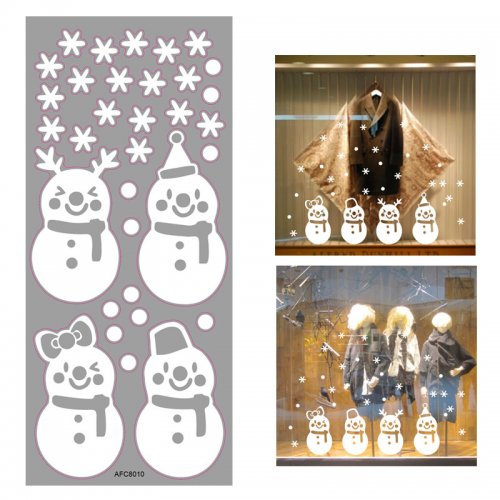 Christmas 3D Removable Window Wall Stickers Decor Xmas Home Shop Decorations - AFC8010