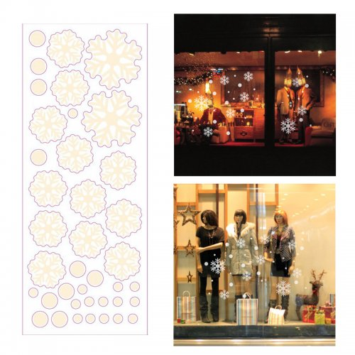 Christmas 3D Removable Window Wall Stickers Decor Xmas Home Shop Decorations - AF2516