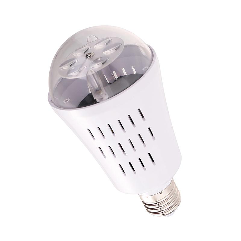 E27 LED Moving Snowflake Xmas Landscape Laser Projector Light Lamp Bulb - Colourful Pattern