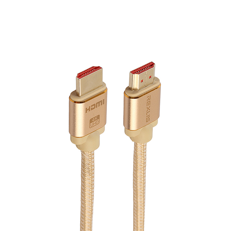 HDMI Cable 2.0 Gold-Plated Cotton Braided Aluminum Alloy Shell HDMI Plug Cable Cord - 5M