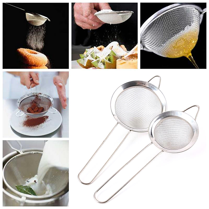 Stainless Steel Strainer Wire Mesh Classic Traditional Filter Sieve Spoon Kitchen Gadgets - 12cm