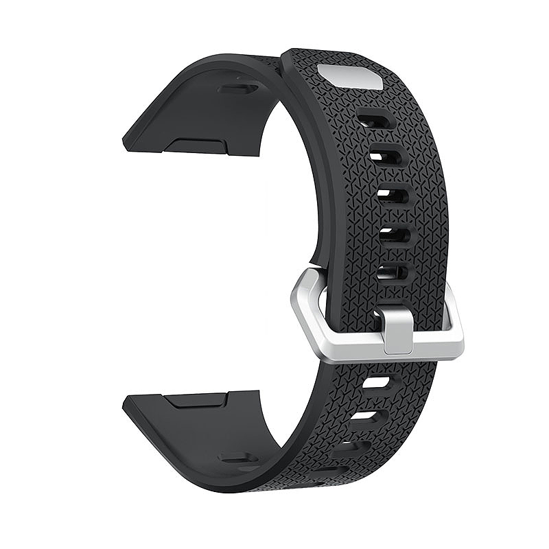 Fitbit 2 Replacement Silicone Wristband Sport Strap Watch Band Bracelet - Black