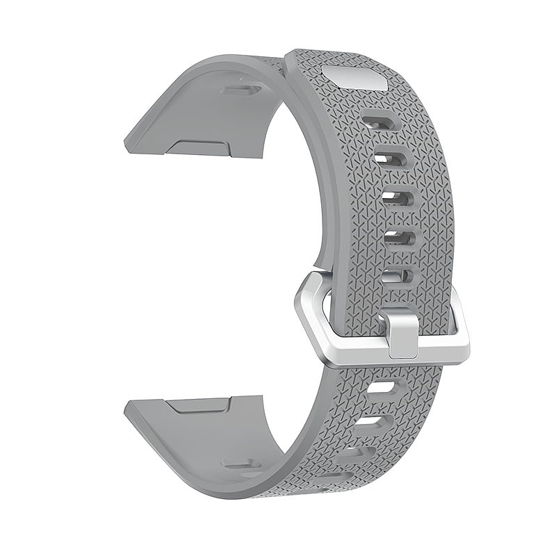 Fitbit 2 Replacement Silicone Wristband Sport Strap Watch Band Bracelet - Gray